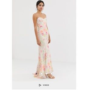 Jarlo all over floral printed maxi dress